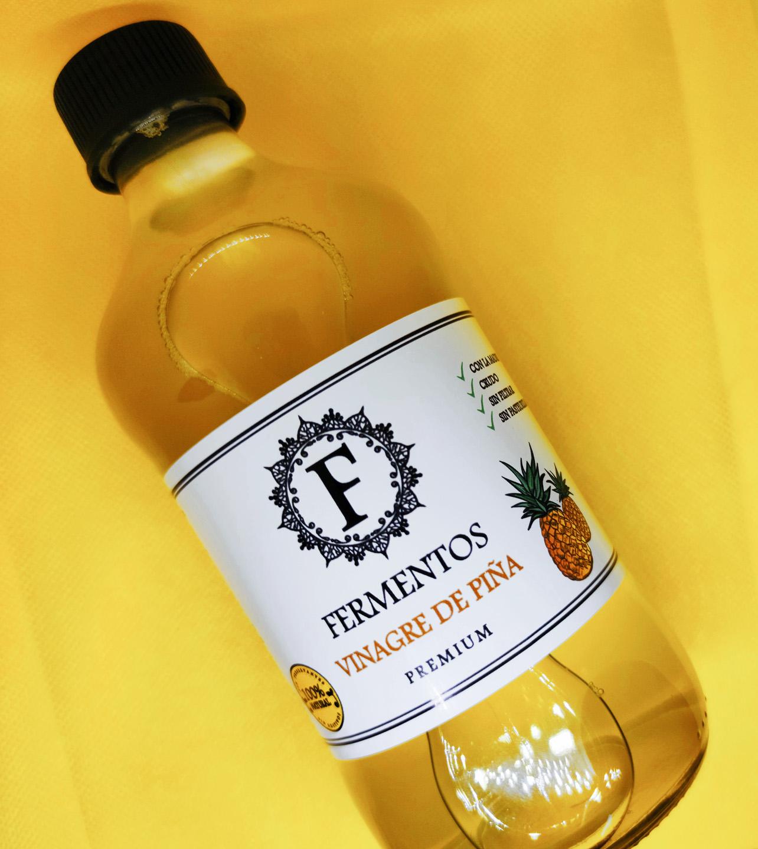Vinagre de Piña fondo amarillo 2